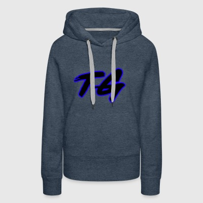 Blue and Black Lettering - Women's Premium Hoodie