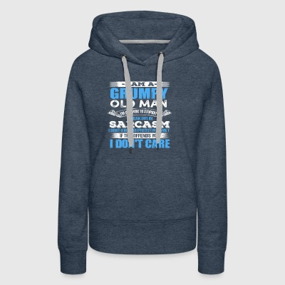 Mens I AM A GRUMPY OLD MAN ALLERGIC TO STUPIDITY - Women's Premium Hoodie