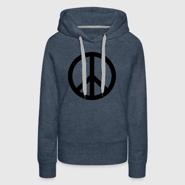 peace symbol icon sign gift present hippie - Women's Premium Hoodie