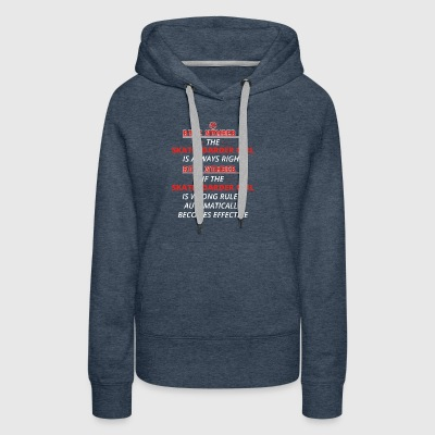 gift rule 1 always right SKATEBOARDER GIRL - Women's Premium Hoodie