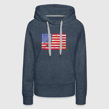 Grunge Stars and Stripes - Women's Premium Hoodie