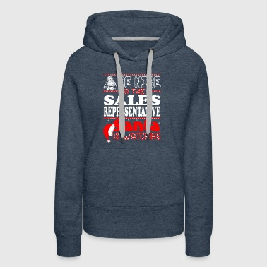 Be Nice To Sales Representative Santa Watching - Women's Premium Hoodie