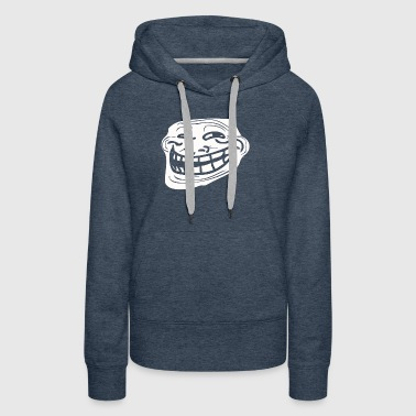 Troll Face Problem Meme - Women's Premium Hoodie
