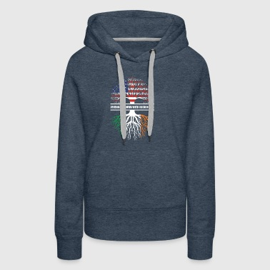 American grown with irish roots - Women's Premium Hoodie