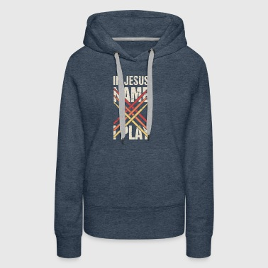 In Jesus Name - Retro Christian Musican - Women's Premium Hoodie