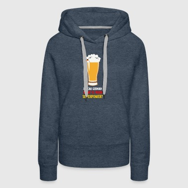 Funny National Pride German Speaking Beer Tshirt - Women's Premium Hoodie