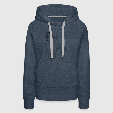 praying hands - Women's Premium Hoodie