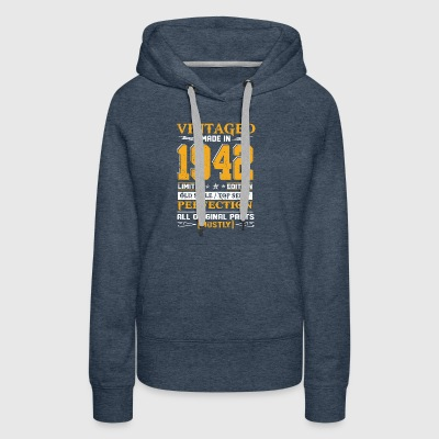 Vintaged Made In 1942 Limited Editon - Women's Premium Hoodie