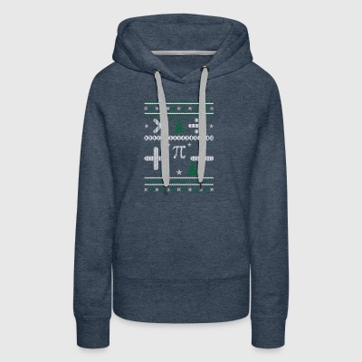 Math Maths Ugly Christmas Sweater Xmas - Women's Premium Hoodie