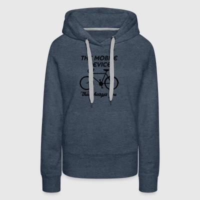 the mobile device that charges - Women's Premium Hoodie