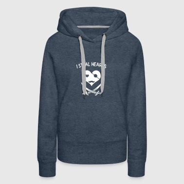 I steal hearts - Women's Premium Hoodie