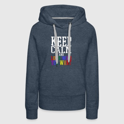 Gay t shirts white keep calm and love who you want - Women's Premium Hoodie
