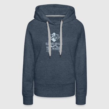 Elephants and asses screwing the masses - Women's Premium Hoodie