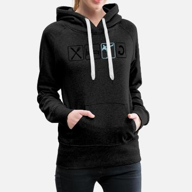 Winner repeat daily exercise eat sleep kickboxer kickboxi - Women's Premium Hoodie
