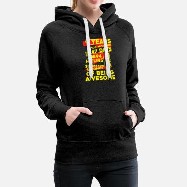 Months 9Years of Being Awesome Apparels - Women's Premium Hoodie