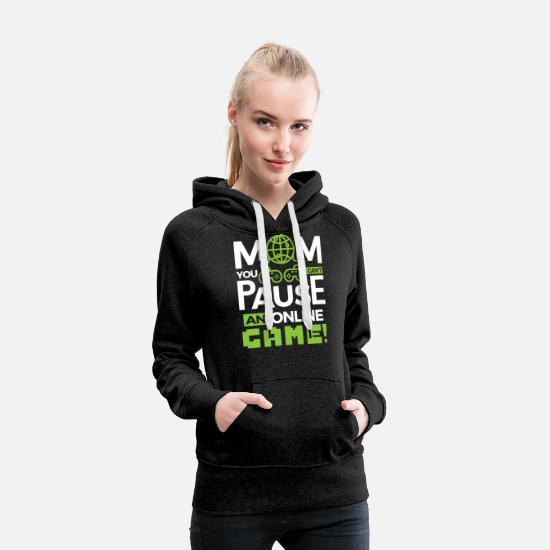 League Of Legends Hoodies & Sweatshirts - Video Gamer Gaming Player T-shirt Mom Gift - Women's Premium Hoodie charcoal gray