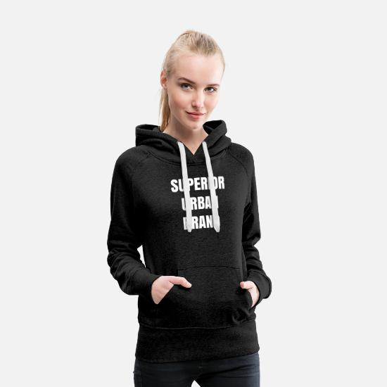 Art Hoodies & Sweatshirts - SUPERIOR URBAN BRAND - Women's Premium Hoodie charcoal gray