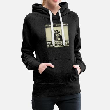 Merry Christmas God Bless America - Women's Premium Hoodie