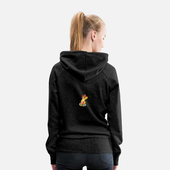 Easter Hoodies & Sweatshirts - Happy Easter! - Women's Premium Hoodie charcoal gray