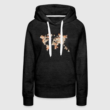 avatars world map - Women's Premium Hoodie