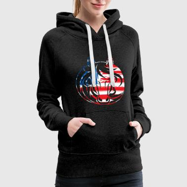 Racing Horse Circle Flag - Women's Premium Hoodie
