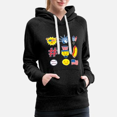 Independence Elements Icons Freedom - Women's Premium Hoodie