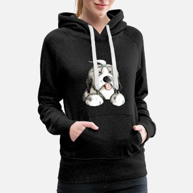 Bearded Collie Happy Bearded Collie - Dog - Comic - Gift - Fun - Women's Premium Hoodie