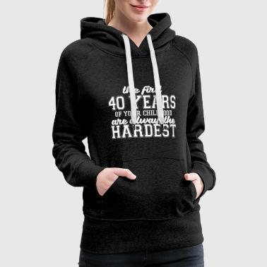 Lessons Childhood lessons - Women's Premium Hoodie