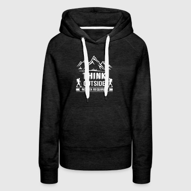 Think Outside No Box Required Hiking - Women's Premium Hoodie