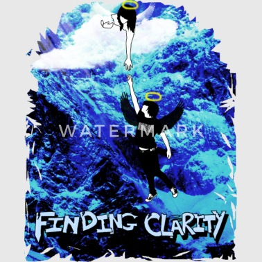 Devil Tattoo lettering logo with trident and eyes. - Women's Longer Length Fitted Tank