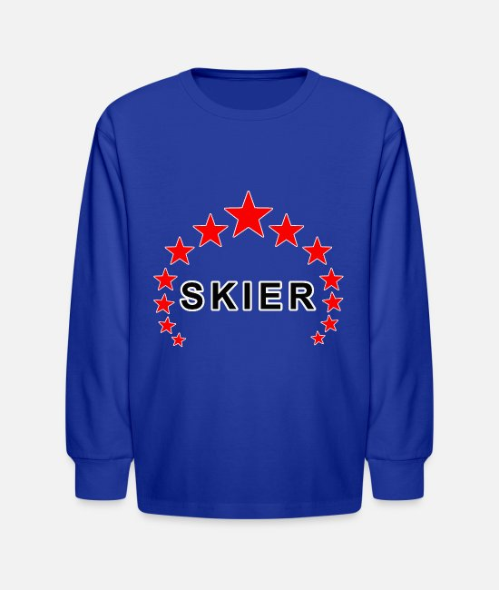 Ski Long-Sleeved Shirts - Skiing - Kids' Longsleeve Shirt royal blue
