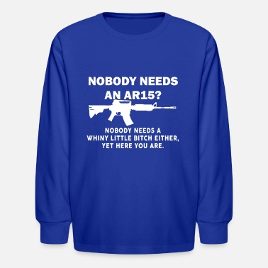Combat Infantry Vietnam Nobody Needs An AR15 - white - Kids' Longsleeve Shirt