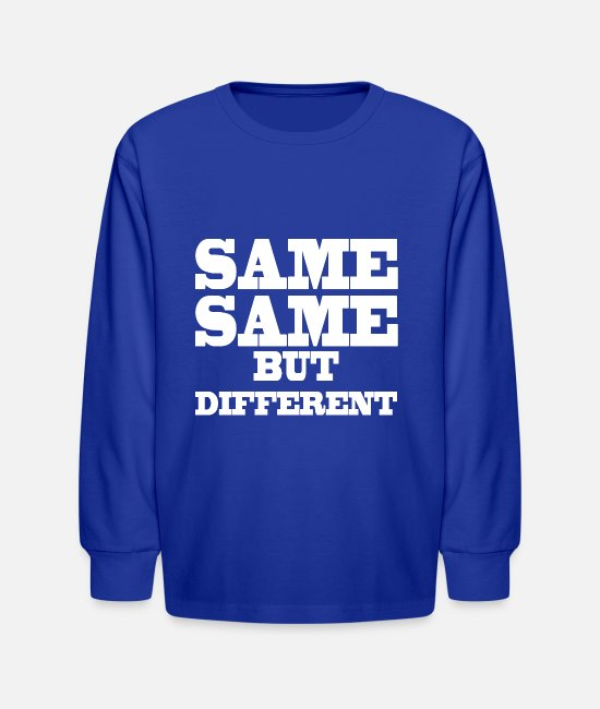 Palm Trees Long-Sleeved Shirts - Same Same But Differnet Thailand Holiday Quote - Kids' Longsleeve Shirt royal blue
