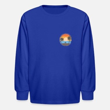 Sunset Retrô - Kids' Longsleeve Shirt