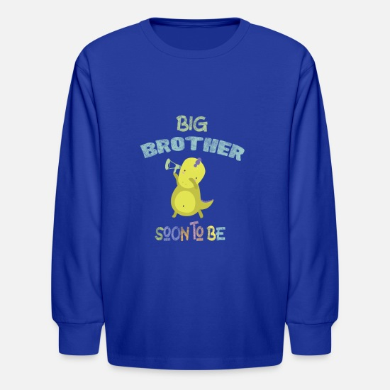 Brother Long-Sleeve Shirts - Big Brother Soon to be Pregnancy Announcement - Kids' Longsleeve Shirt royal blue