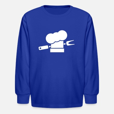 Smutje Barbecue cooking hats fork - Kids' Longsleeve Shirt