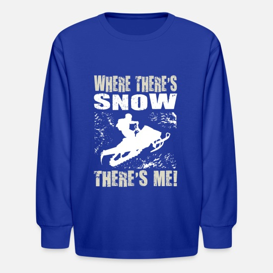 Snowmobile Long-Sleeve Shirts - Snowmobile Snow Me - Kids' Longsleeve Shirt royal blue