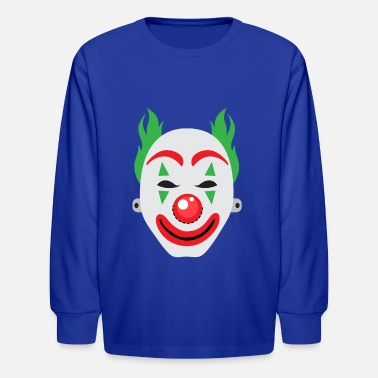 Clown Face Mask - Kids' Longsleeve Shirt