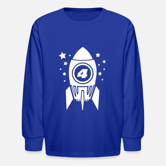 Four T-Shirts - Gift for Four Year Old - Kids' Longsleeve Shirt royal blue