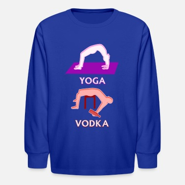 Boozer Yoga Vodka Funny Boozer Drinking Game - Kids' Longsleeve Shirt