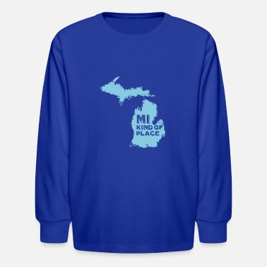 Pure MI kind of place (blue) - Kids' Longsleeve Shirt