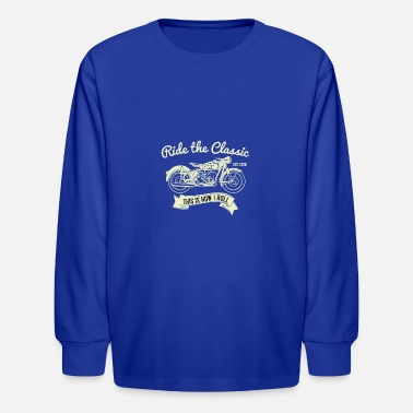 Sporty Ride the Classic Motorbike Shirt Sporty Gift Idea - Kids' Longsleeve Shirt