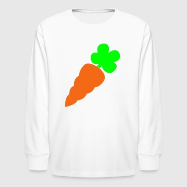 Carrot a healthy orange carrot vegetable - Kids' Long Sleeve T-Shirt