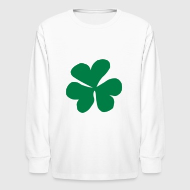Clover, Clover leaf, Shamrock - Kids' Long Sleeve T-Shirt