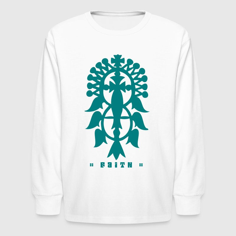 Ethiopian Cross - Kids' Long Sleeve T-Shirt