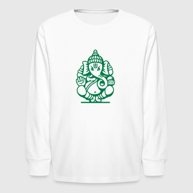 Ganesh Ganesa Ganapati 04_1c - Kids' Long Sleeve T-Shirt