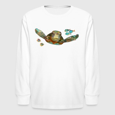 Flying Sea Turtle - Kids' Long Sleeve T-Shirt
