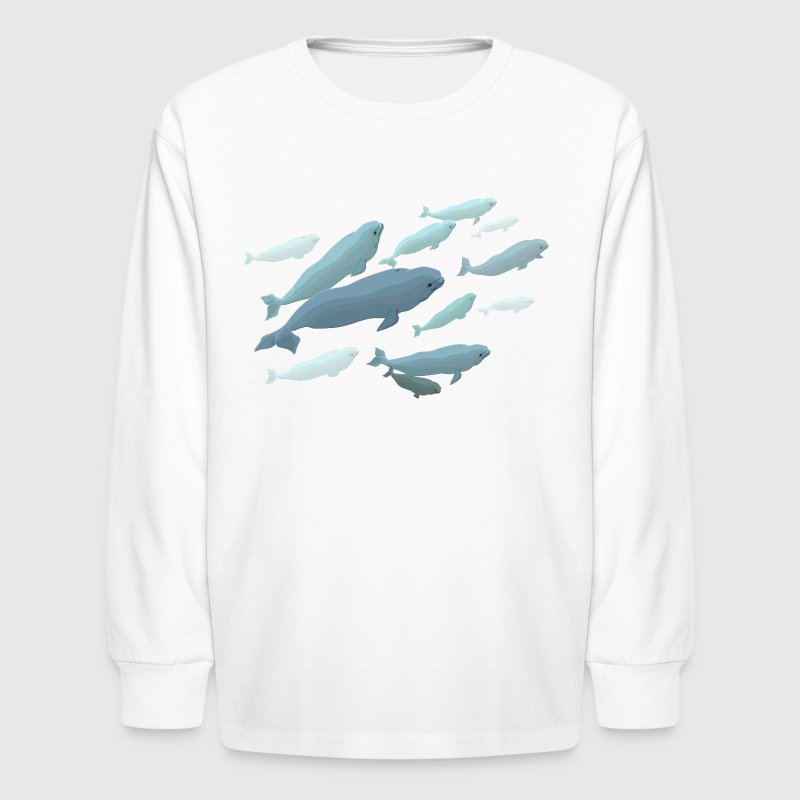 Beluga Whales Shirts Light - Kids' Long Sleeve T-Shirt