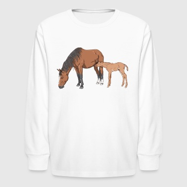 mare & foal - Kids' Long Sleeve T-Shirt