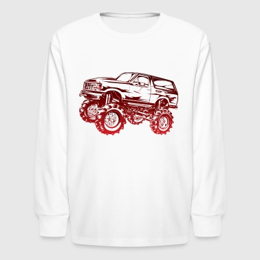 Mega Mud Ford Bronco Red - Kids' Long Sleeve T-Shirt